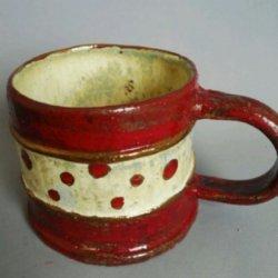 画像1: ドットラインのマグカップ