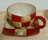 市松模様の角皿